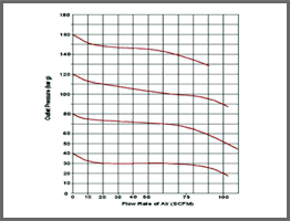Pressure Regulator 2255 Typical Flow Curves